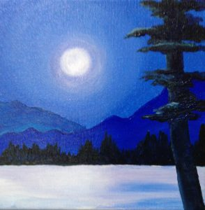 Paint with Patrice: Winter ADK Lake @ Caldwell Lake George Library