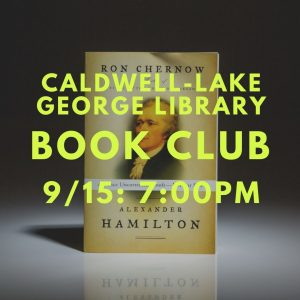 Caldwell-Lake George Library Monthly Book Club @ Caldwell-Lake George Library