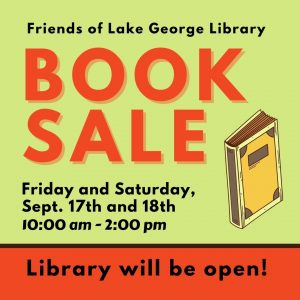 Friends of Lake George Library Monthly Book Sale @ Caldwell-Lake George Library