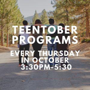 TeenTober: Teen Center Programs @ Caldwell-Lake George Library
