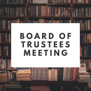 Board of Trustees Meeting @ Caldwell-Lake George Library